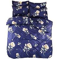 春の顔【布団カバー4点セットダブル】 14色柄から選べる枕カバー 掛け布団カバー 敷き布団カバー