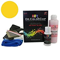 Dr。ランドローバーディスカバリーAutomobile ColorChipペイント Squirt-n-Squeegee Kit イエロー DRCC-579-3441-0001-SNS