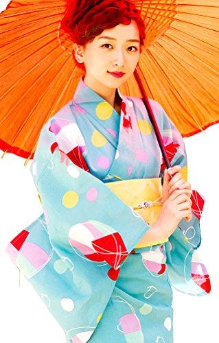 (ディータ)Dita 2017年デザイン 京都本格 レトロ 女性浴衣 すぐにお出かけできるフルセット 浴衣本体(ゆかた)・帯(つくりおび)・下駄(ゲタ)の3点セット+着付けスタイルブック(冊子)の計4点 夏の幻想毬金魚