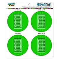 フットボールフィールドMAG-格好いい'S(TM)カー/冷蔵庫マグネット Set