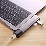 QZ USB C Hub to HDMI Ethernet Rj45 Adapter with PD Power Hub 3.0 Port Type C Dock for MacBook Pro/Air