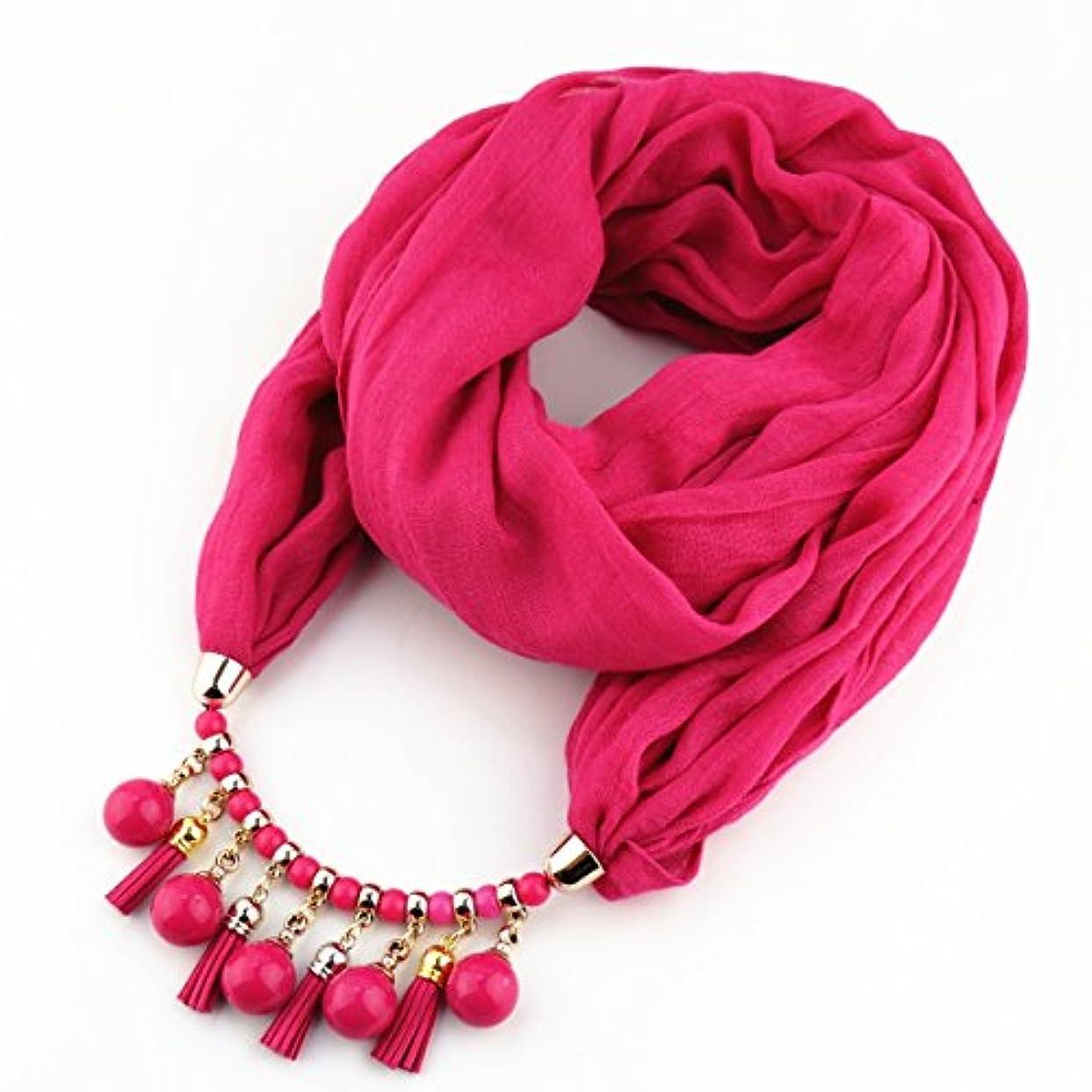 ディンカルビルドーム造船レディース?ショール - 女性のスカーフ2018ファッションアクリルペンダントポリスターインフィニティスカーフソリッドオールシーズンズパープルローズイエローグリーンブルーピンクレッド 家の装飾 ( Color : Rose )