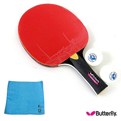 버터플라이(Butterfly) ADDOY-S10 탁구 라켓 shakehand 타입 (라켓,볼2개,오리지날 스포츠 타올1매)-