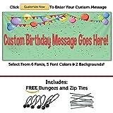 HALF PRICE BANNERS | カスタム | 誕生日 紙吹雪 ビニールバナー | 屋内/屋外 | 無料のバンジー & ジップタイ | 簡単吊り下げパーティーサイン | 誕生日デコレーション | 様々なサイズ | アメリカ製 2'x6' - Outdoor グリーン HD-2X6-Birthday Confetti-Green