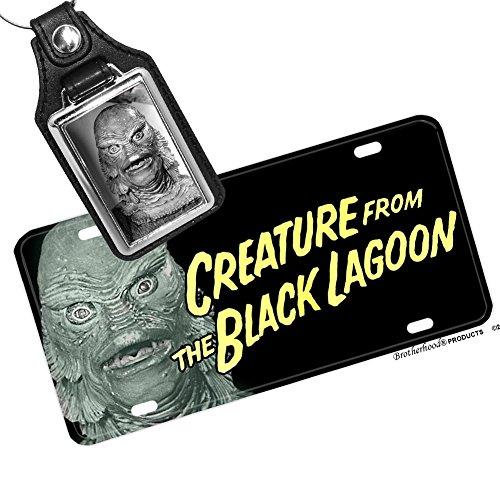 Creature From theブラックLagoonライセンスプレートと一致するキーリング