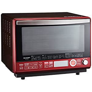 シャープ 過熱水蒸気オーブンレンジ 2段調理 31L レッド RE-SS10B-R