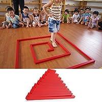 yuuups モンテッソーリ 木製 赤 長い棒 数学ロッド おもちゃ 子供 教育 建設エンジニアリング 男の子 女の子 対象年齢 3 4 5 歳以上 クリエイティブで楽しいキット ch ギフトに最適