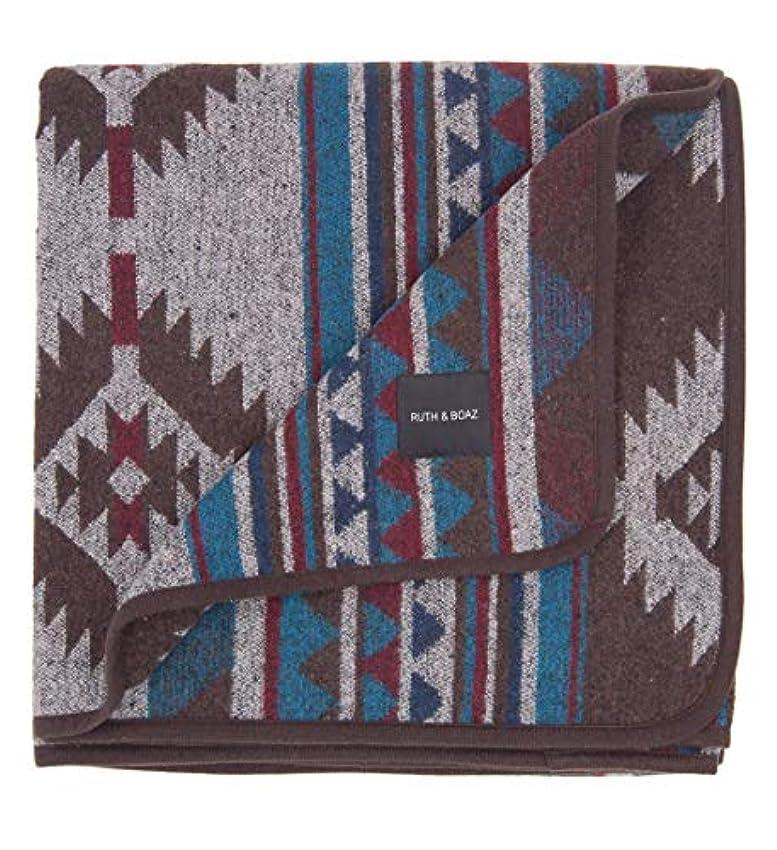 小道具やるくちばしRUTH&BOAZ Outdoor Wool Blend Blanket Ethnic Inka Pattern(L) (Sapphire, Large) [並行輸入品]