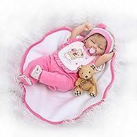 Sleeping Rebornガールズベビーソフトビニール人形シリコン生まれRealキッズ人形磁気おしゃぶりおもちゃ16インチ
