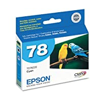 Epsonamp ; reg ;–t078220Clariaインク、430page-yield、シアン–Sold As 1Each–Separateカートリッジ。