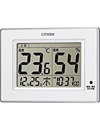 CITIZEN(リズム時計) 【高精度温度湿度計】 ライフナビD200A プラスチック枠/白色 8RD200-A03