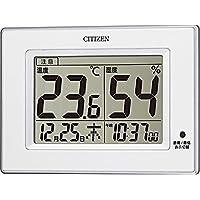 CITIZEN シチズン 温度計 湿度計 時計付き ライフナビD200A 白 8RD200-A03