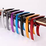 【全7色】 ギター カポタスト Guitar Capo フォーク エレキ 用 0.58 mm 0.71 mm 0.81 mm ピック 各2個 クロス 付き