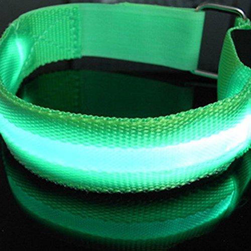 Hanbaili LEDライトシャイニーグローブレスレット点滅リストバンド RunningvParty Raveコンサートバングル・サウンド・アクティベーション