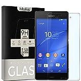 Molig Sony Xperia Z3 強化ガラスフィルム SO-01G/SOL26/401SO 対応 気泡ゼロ HD 飛散防止 指紋防止 撥油性 疎水性
