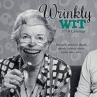 2019年壁掛けカレンダー - 2019年おかしな名言カレンダー、12 x 12インチ月間カレンダー、16ヶ月、しわがれウィットテーマ、180リマインダーステッカー付き