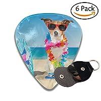 サーフボード 犬 ピック 様々な厚さ ギターピック 6枚セット 弦楽器 収納ボックス付