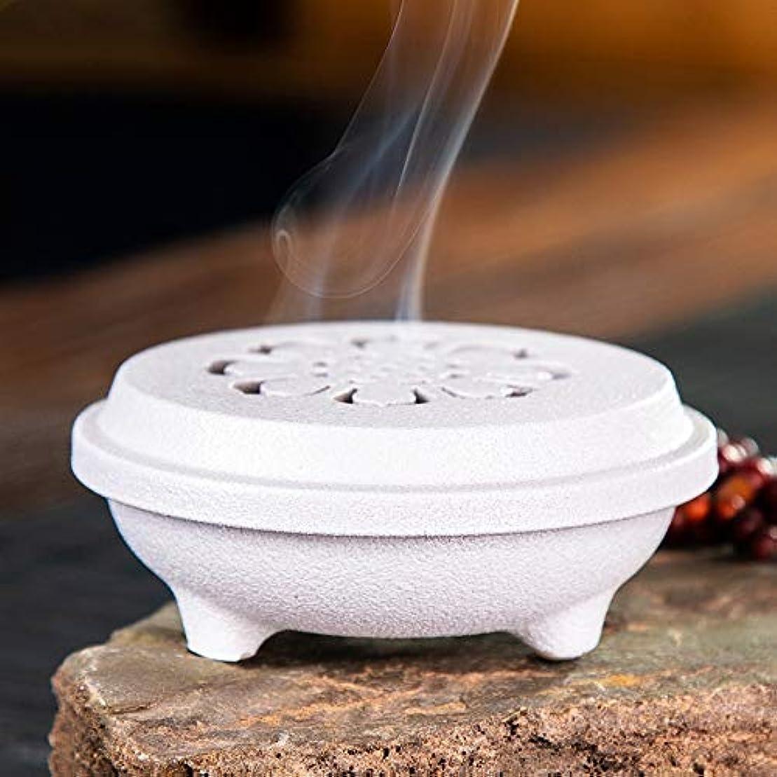 魅惑するゴミ箱を空にするいたずらホームデコレーション茶道用コイル型燭台セラミックセンター香りバーナーブラケットD / 11