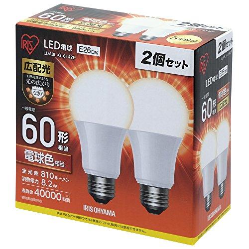 アイリスオーヤマ LED電球 口金直径26mm 60W形相当...