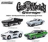 "GREENLIGHT 1:64SCALE HOLLYWOOD FILM REELS ""GASMONKEY GARAGE"" ""1967 FORD MUSTANG COVERTIBLE / 1967 CHEVROLET CORVETTE STINGRAY / 2013 CHEVROLET COPO CAMARO / 1971 DODGE CHALLENGER R/T"" 4-pack グリーンライト 1:64スケール ハリウッド フィルムリールズ 「ガスモンキーガレージ」「1967 フォード マスタング コンバーチブル / 1967 シボレー コルベット スティングレイ / 2013 シボレー COPO カマロ / 1971 ダッジ チャレンジャー R/T」 4台セット [並行輸入品]"