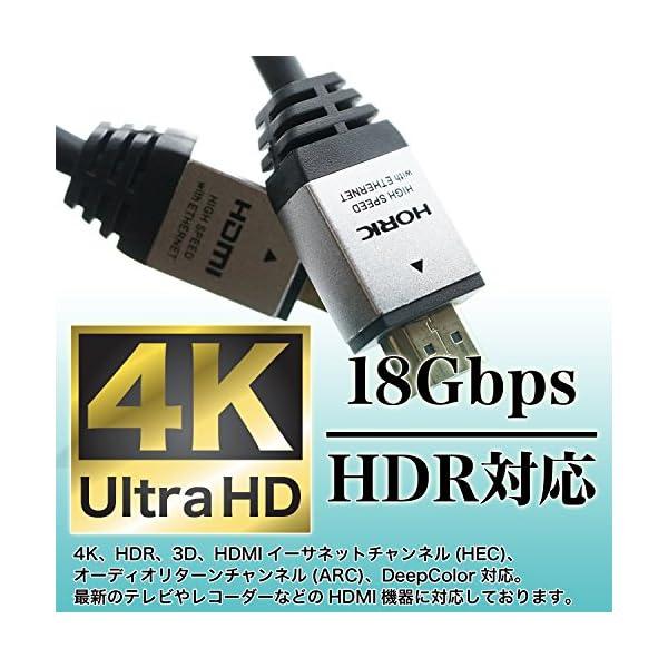 HORIC ハイスピードHDMIケーブル 2....の紹介画像4