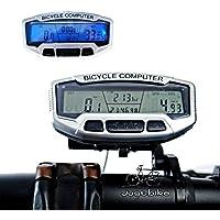 Starall サイクルコンピュータ スピードガン サイクリング自転車 自転車コンピュータ 防水 多機能 バックライト付き LCD 防水 走行距離計 走行速度計 走行時間計 スピードメーター(電池付き)