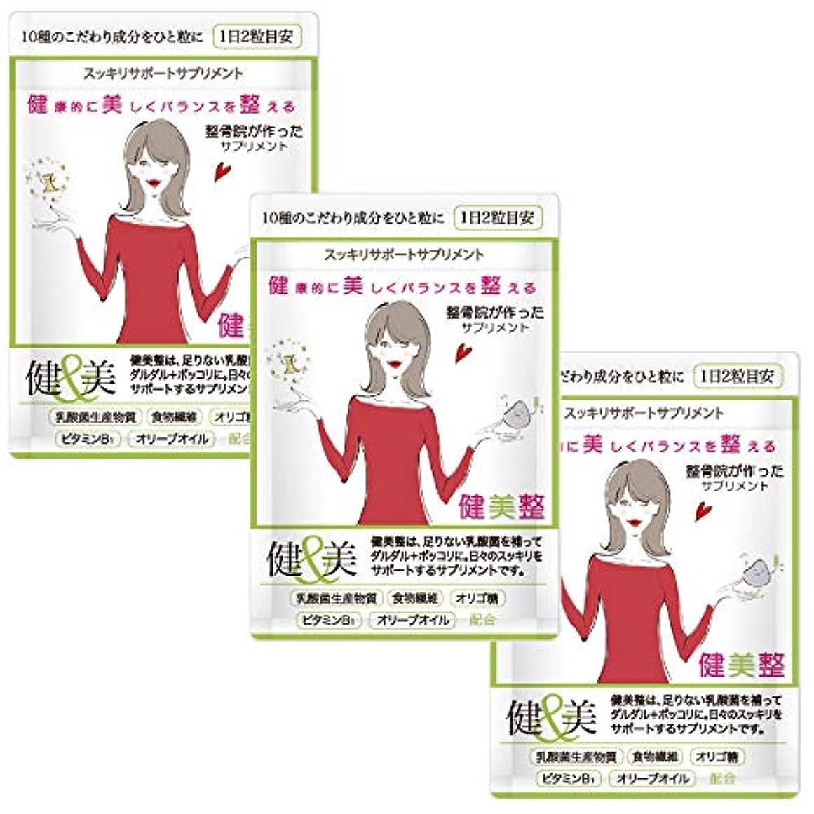 博物館センサー時代ダイエット サプリメント 人気 酵素 健美整プラス 腸内環境 炭 60粒1か月分 (3)