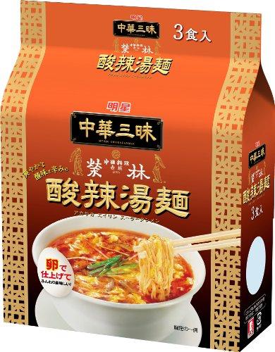 明星 中華三昧 赤坂榮林 酸辣湯麺 3P×2個