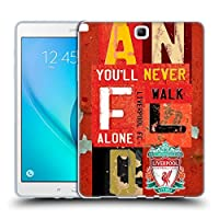 オフィシャル Liverpool Football Club ビンテージ・プレート Anfield You'll Never Walk Alone クレスト Samsung Galaxy Tab A 9.7 専用ソフトジェルケース