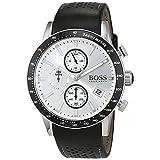 [ヒューゴボス]Hugo Boss 腕時計 1513403 Black Leather Analog Quartz Watch 7613272216746 メンズ [並行輸入品]