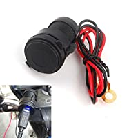Weryn - 防水携帯電話USB充電電源アダプタソケットは、オートバイホンダ、ヤマハ、スズキ、カワサキ、KTM BMWのために合います