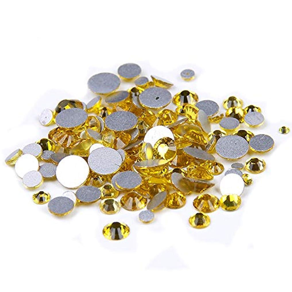 志すためらう教Nizi ジュエリー ブランド シトリン ラインストーン は ガラスの材質 ネイル使用 型番ss3-ss34 (混合サイズ 1000pcs)