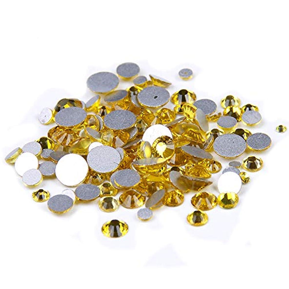積極的にかんたん奇妙なNizi ジュエリー ブランド シトリン ラインストーン は ガラスの材質 ネイル使用 型番ss3-ss34 (SS20 1440pcs)