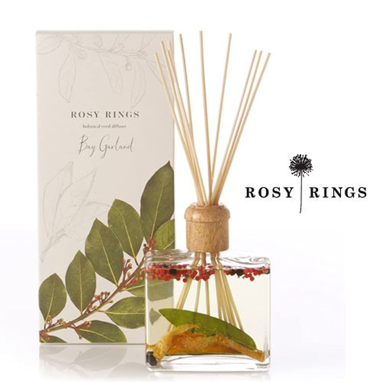 有効メアリアンジョーンズ硬化するロージーリングス ボタニカルリードディフューザード ベイガーランド ROSY RINGS Signature Collection Botanical Reed Diffuser – Bay Garland