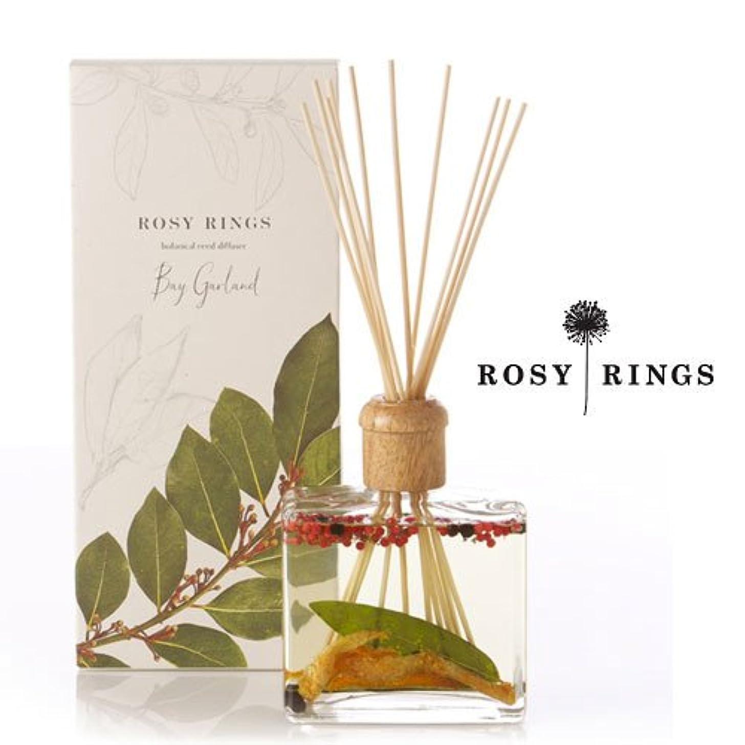 休戦当社磁器ロージーリングス ボタニカルリードディフューザード ベイガーランド ROSY RINGS Signature Collection Botanical Reed Diffuser – Bay Garland