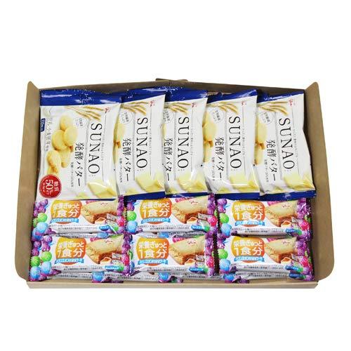 グリコ SUNAO〈発酵バター〉(5コ)& バランスオンminiケーキ チーズケーキ(14コ)セット