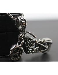 「silverKYASYA」高品質ステンレス バイク ネックレス スカル 髑髏 ドクロ ハーレー