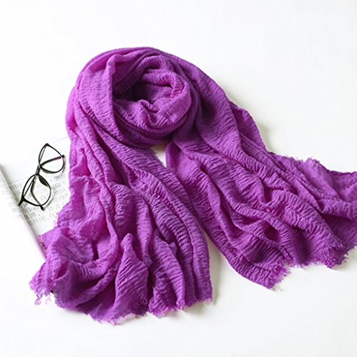 入場言い訳労働者日焼け止め/ショールビーチタオル/多機能ロングスカーフ39.4 * 78.7インチ紫色の四季折々の普遍的な (Color : Purple)