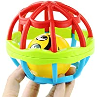 Coolplay 1個Rattle ShakerベルリングボールベビーHand Shake RattleおもちゃGraspトレーニングキャッチHandbells