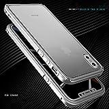 MQman プレート付き NEW iphoneX アルミバンパー ケース ねじ留め式 iphone X メタルフレーム 2点セット 薄型 かっこいい アイフォン ストラップ穴付き 軽量 金属人気合金 かっこいい 洒落 (iphoneX, オール 銀)