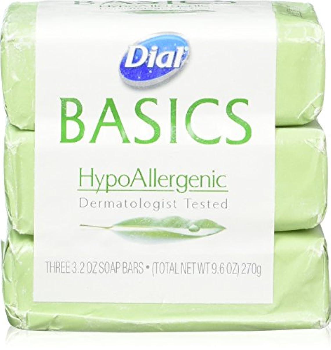 規模へこみ王室Dial Basics HypoAllergenic Dermatologist Tested Bar Soap, 3.2 oz (12 Bars) by Basics
