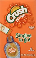 Orange Crush Sugar Free Singles To Go 6 Packets New Just Add To Water Bottle 6 CT (Pack of 12) by Crush