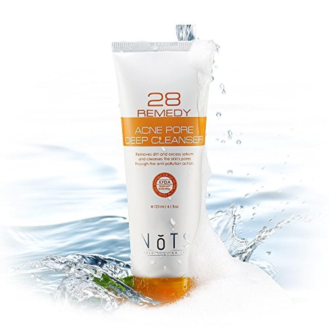 該当する打撃ライナーNOTS 28 Remedyアクネポアディープフェイシャルクレンザー120ml (NOTS 28 Remedy Acne Pore Deep Facial Cleanser 120ml) [並行輸入品]