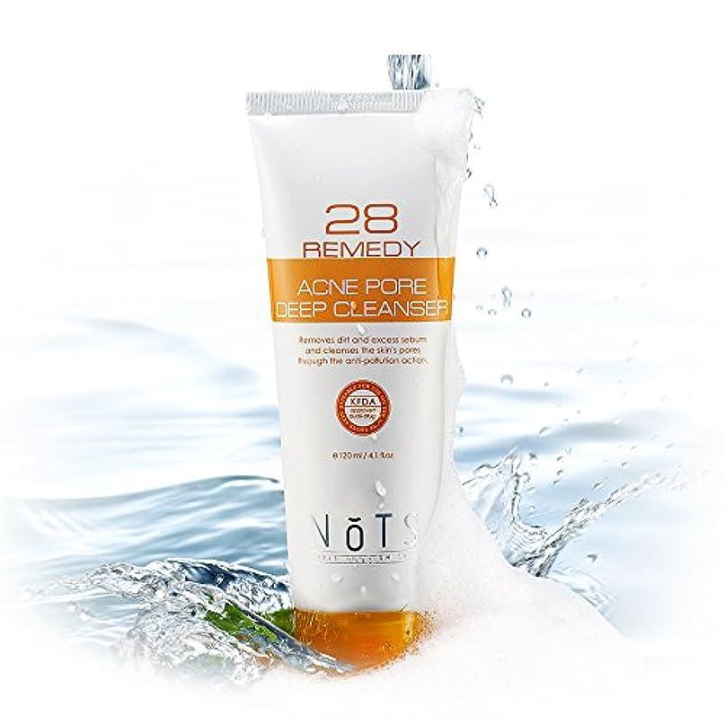 被る第五妨げるNOTS 28 Remedyアクネポアディープフェイシャルクレンザー120ml (NOTS 28 Remedy Acne Pore Deep Facial Cleanser 120ml) [並行輸入品]