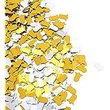 SoarUp クリスマス 紙吹雪 ベルの形 クリスマスパーティー 誕生日パーティー 記念日 ゴールド?シルバー  100g