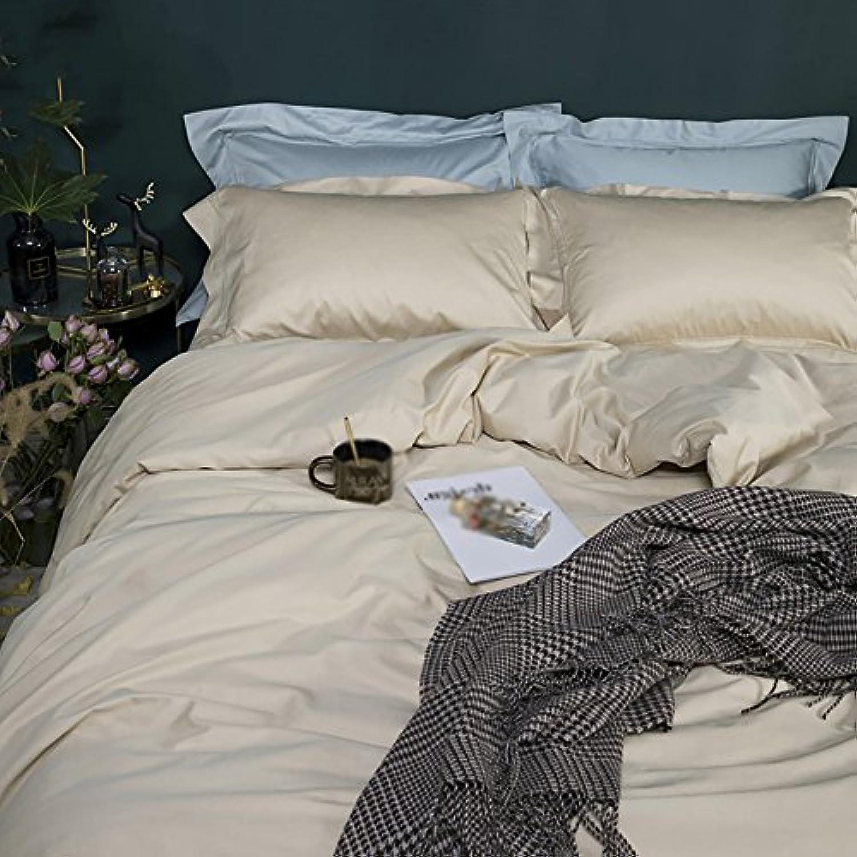 QETUピュアカラー寝具セット、サテンフルコットンベッドスプレッドカバー、家庭用、ホテル寝具セット L 462-138