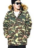 (ディーオーピー) DOP ミリタリージャケット メンズ N-3Bジャケット ファーフード付き 迷彩柄 カモ XXXXL 大きいサイズ