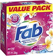 Fab Fresh Frangipani Laundry Powder Detergent, 2 Kilograms