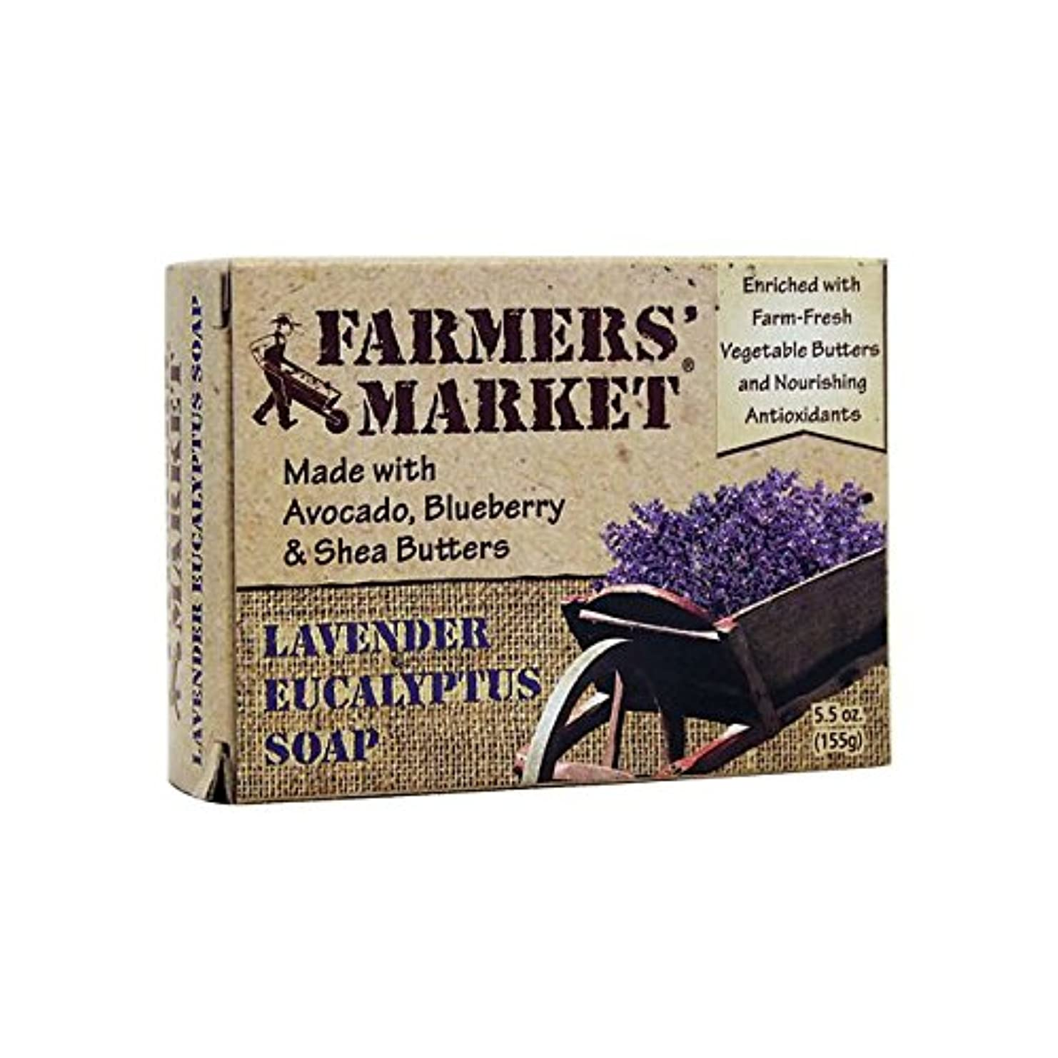 件名説明的裁判所Farmers' Market Soaps, Lavender Eucalyptus Soap, 5.5 oz (155 g) (Discontinued Item)