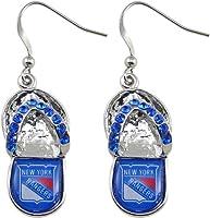 (New York Rangers) - NHL Chicago Blackhawks Flip Flop Crystal Earrings